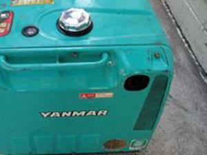 ヤンマー(YANMAR)発電機 排気口つまり無し